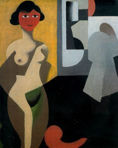""" The model via Rene Magritte Size: 29x40 cm Medium: oil, canvas"""