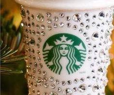 Starbucks diamond cup - add some sparkle! I Love Coffee, Hot Coffee, Coffee Drinks, Coffee Cups, Coffee Break, Starbucks Drinks, Starbucks Coffee, Nespresso, Cafe Rico