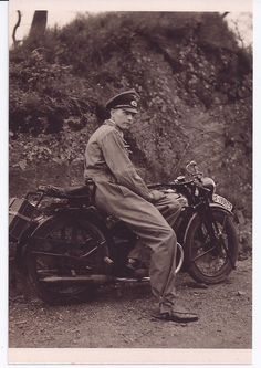 German Army Officer with motorcycle, 1930s, pin by Paolo Marzioli