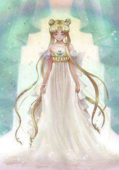 Beautiful Princess Serenity Fan Art... I love re-watching this anime... I am mad at what happened...
