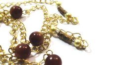 Cloisonee catena occhiali cordino oro badge di ArtigianatoLiliana