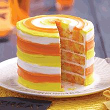 Make a delightful and delicious candy corn cake