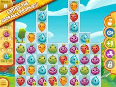Farm Heroes Saga App by King .com Limited. Elimination Puzzle Game Apps.