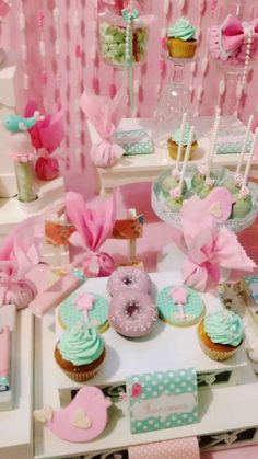 Sweet desserts at a bird birthday party! See more party ideas at CatchMyParty.com!