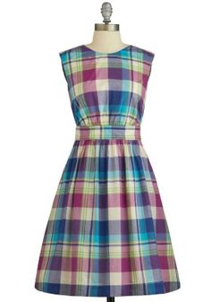What's more fun than our signature Too Much Fun Dress? Why, our Too Much Fun Dress in bright plaid, of course!