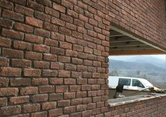 The popular Chicago Rojo brick slips are a red and smoke effect brick cladding which can be used internally or externally. Brick Cladding, Chicago, Red Bricks, Wales, Slip On, Smoke, Canning, Design, Red