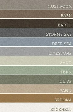 Use any set of 3 of these colors for each room. A palette for the whole house.
