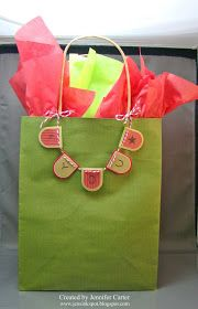 Jen's Ink Spot: Simple Decorated Gift Bag