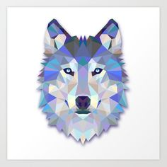 Colorful Wolf Art Print by Smyrna - X-Small