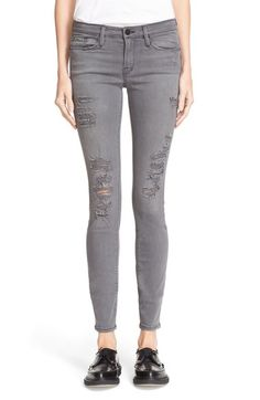 FRAME 'Le Skinny de Jeanne' Jeans (Grey Shred) available at #Nordstrom