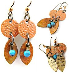 Boho Dangle Earrings - Orange & Turquoise | Flickr - Photo Sharing!