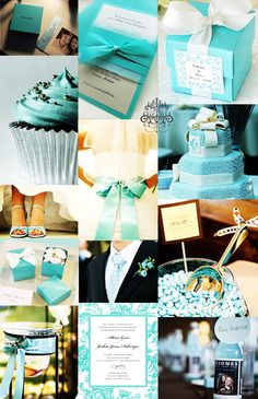 Tiffany Blue Wedding Inspiration Board. I've said it a million times that this will be the theme of my wedding one day.