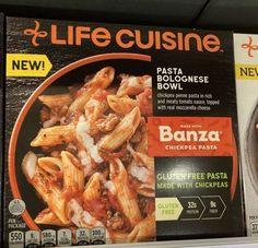 Banza Chickpea Pasta, Gluten Free Pasta, 300 Calories, Penne Pasta, Frozen Meals, How To Make Cheese, Bolognese, Tomato Sauce, Mozzarella