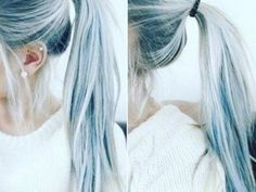Denim hair is a hair color trend that's actually gorgeous