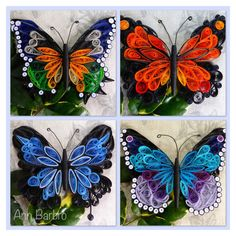 Quilling butterflies More Más - Crafts All Over