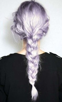 Pretty purple messy braid