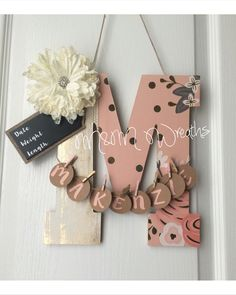 Baby room / hospital  door hanger https://www.etsy.com/shop/MandMWreaths2015?ref=hdr_shop_menu