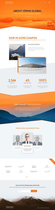 Verne global web design about