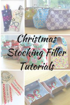 Often the smallest and quickest sewing projects can bring the most pleasure. I've curated some of my free tutorials for you, in a 'Stocking Filler' collection! Sewing Hacks, Sewing Tutorials, Sewing Patterns, Free Tutorials, Sewing Ideas, Christmas Stocking Fillers, Christmas Stockings, Christmas Gifts, Christmas Ideas