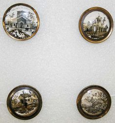 antique glass button,French,ca.1780