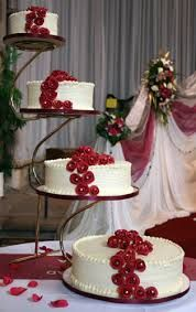 Something To Go With The Metal Ring Toppers 3 Tiered Wedding Cake Stand