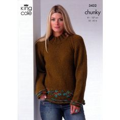 Sweater & Coat Top in King Cole Chunky (3432) £2.99