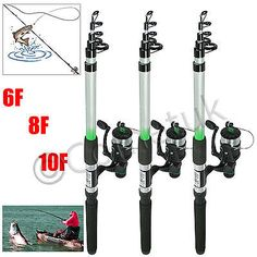 2x portable telescopic #travel #fishing rod & #reels size 6ft 8ft 10ft sea rods u,  View more on the LINK: http://www.zeppy.io/product/gb/2/252232887162/