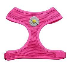 ec40b5484fce Mirage Pet Products 73-23 MDPK White Daisies Chipper Pink Harness, Medium  >