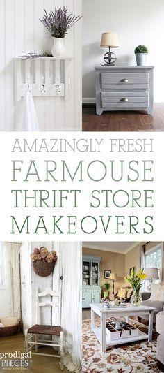 Amazingly Fresh Farmhouse Thrift Store Makeovers