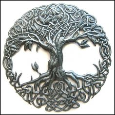 """Learn additional information on """"metal tree sculpture"""". Browse through our site. Art Haïtien, Art Mural, Metal Tree Wall Art, Hanging Wall Art, Wall Hangings, Metal Artwork, Tambour, Drums Art, Tree Of Life Art"""