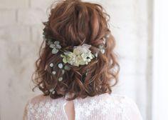 【ボブヘア・ミディアムヘア】の愛され花嫁ヘアカタログ