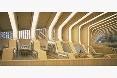Vennesla Library's Ribbed Prefab Design Features Energy Effici...