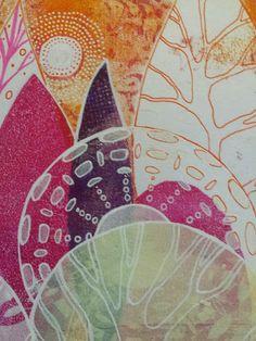 Art by Lucy Brydon : Gelli printing step by step tutorial! craft tutorials, crafts to make at home. Gelli Plate Printing, Gelli Arts, Art Journal Inspiration, Art Plastique, Moleskine, Art Tutorials, Collage Art, Art Lessons, Printmaking