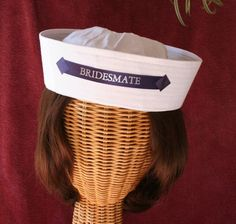 Sailor's HAT for your Bridesmaids perfect for a by CapeStarr, $14.95