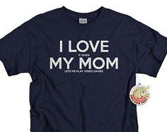 Christmas gifts for Boys - Kids I Love My Mom Video game Shirt - Video Game Gift - Videogame T Shirts