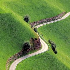 Winding road, Ireland.
