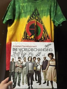 Limited Edition Shirt and Vinyl record! The World is Changing was only pressed in Japan! The limited edition shirt was from the 1993 pressings. (Logo by: RasaDon) #ArrestedDevelopment #ADtheBand