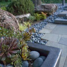 landscaping river rock River Rock Landscaping, Landscaping With Rocks, Backyard Landscaping, Landscaping Ideas, Rock Path, Asian Landscape, Hardscape Design, Stone Walkway, Garden Design