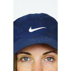 Re:dream Vintage Vintage Nike Logo Front & Buckle Back Baseball Cap ($28) ❤ liked on Polyvore featuring accessories, hats, blue, vintage baseball hats, adjustable baseball hats, blue baseball cap, blue baseball hat and blue hat