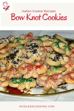 Learn how to make the best Italian cookie recipes.These Italian Bow Knot Cookies are a traditional cookie made for holidays usually Christmas and Valentine's Day. Italian Donuts, Italian Pastries, Italian Cookies, Italian Desserts, Italian Recipes, Italian Foods, Italian Christmas Cookies, Christmas Baking, Christmas Recipes