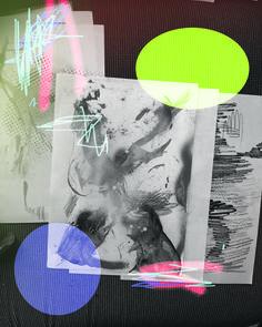LUKE DOWD drawing 1, 2015 Unique digital print on canvas