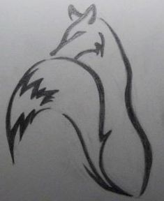 How to Draw a Simple Tribal Fox, Step by Step, Tribal Art, Pop Culture, FREE Online Drawing Tutorial, Added by Teodora, May 3, 2012, 1:55:41 pm