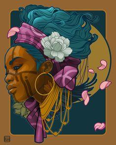 Sketches for on Behance Illustration Pop Art, Kreative Portraits, Afrique Art, Black Art Pictures, Black Love Art, African American Art, Portrait Art, Female Art, Art Inspo