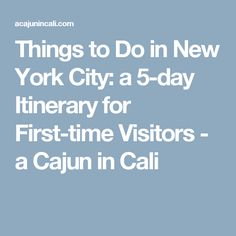 Things to Do in New York City: a 5-day Itinerary for First-time Visitors - a Cajun in Cali