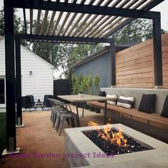 Are you looking for modern patio design ideas? If you do, then keep on reading! This article will give you recommended modern patio designs and patio paver design ideas which you can apply to your patio. For those who are not familiar, the patio is. Modern Patio Design, Small Backyard Design, Small Backyard Patio, Backyard Patio Designs, Backyard Landscaping, Contemporary Patio, Landscaping Ideas, Modern Pergola, Backyard Games