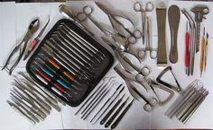 61. Zahntechnik,Dental,Pinzette,Zahn Laborzange,Tasterzirkel,Schere,Zahnsonde.