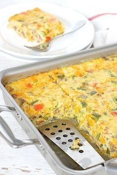 This egg, sausage and cheese breakfast bake is so easy to make and is perfect fo… This egg, sausage and cheese breakfast bake is so easy to make and is perfect for feeding a hungry crowd on the weekends. Breakfast Bake, Breakfast Dishes, Breakfast Casserole, Breakfast Recipes, Breakfast Ideas, Brunch Ideas, Dinner Ideas, Top Recipes, Brunch Recipes
