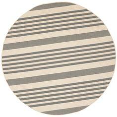 Safavieh Grey/ Bone Indoor Outdoor Rug | Overstock.com Shopping - Great Deals on Safavieh 7x9 - 10x14 Rugs