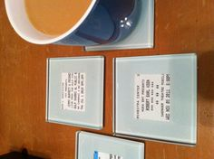 My brilliant wife put concert tickets in the photo coasters!  Easier for guests to remember their drink. How cool!