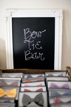 Bow Tie Bar - a fun wedding favor idea for all the male guests.